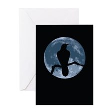Crow Moon Greeting Card