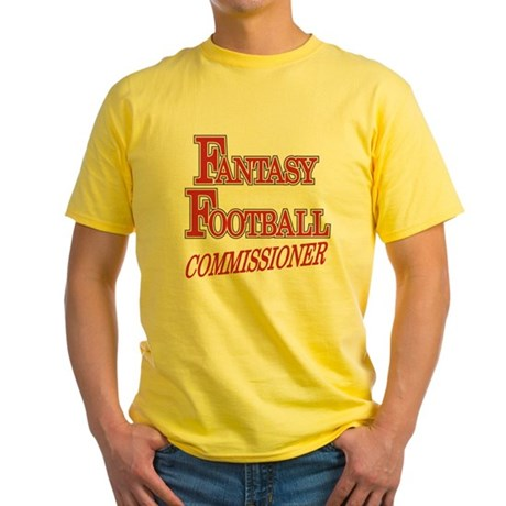 Fantasy Football Commissioner Yellow T-Shirt