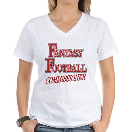 Fantasy Football Commissioner Women's V-Neck T-Shi