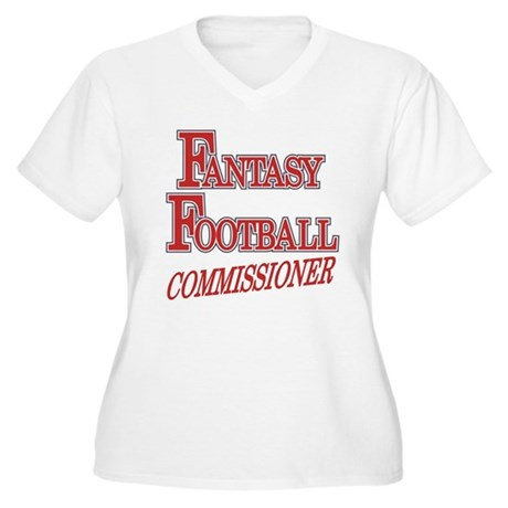 Fantasy Football Commissioner Women's Plus Size V-