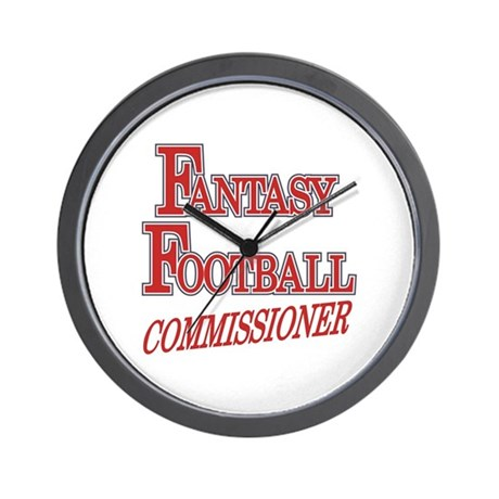 Fantasy Football Commissioner Wall Clock
