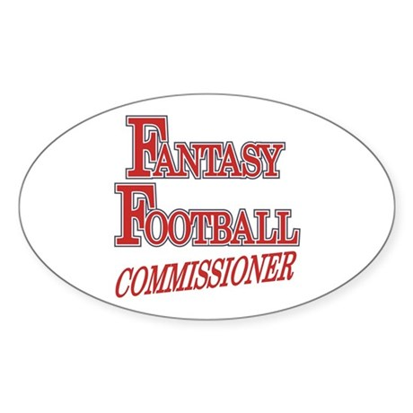 Fantasy Football Commissioner Oval Sticker
