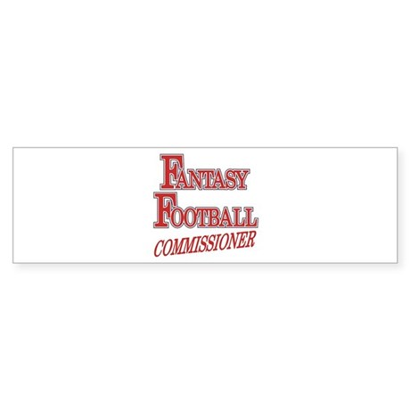 Fantasy Football Commissioner Bumper Sticker