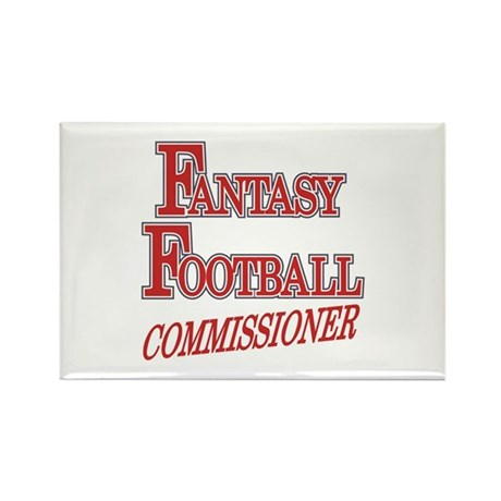 Fantasy Football Commissioner Rectangle Magnet (10
