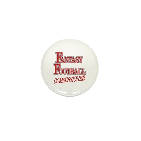 Fantasy Football Commissioner Mini Button (100 pac