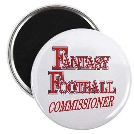 "Fantasy Football Commissioner 2.25"" Magnet (10 pac"