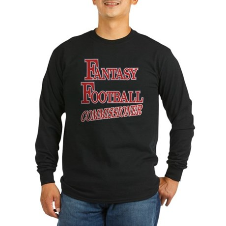 Fantasy Football Commissioner Long Sleeve Dark T-S