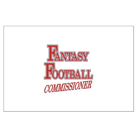 Fantasy Football Commissioner Large Poster