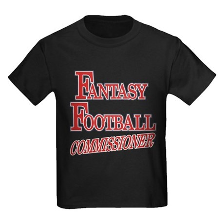 Fantasy Football Commissioner Kids Dark T-Shirt