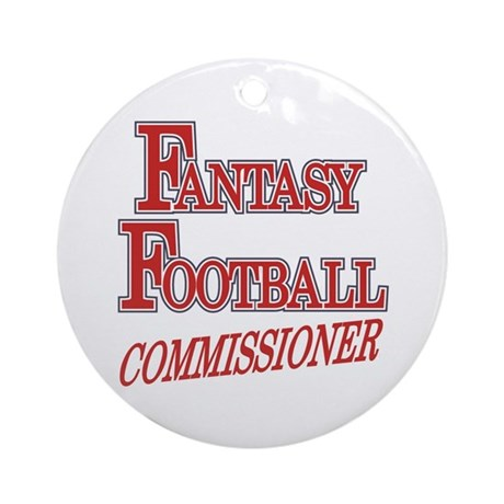 Fantasy Football Commissioner Ornament (Round)
