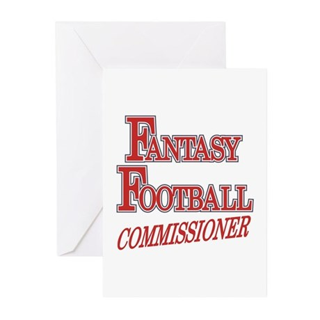 Fantasy Football Commissioner Greeting Cards (Pk o