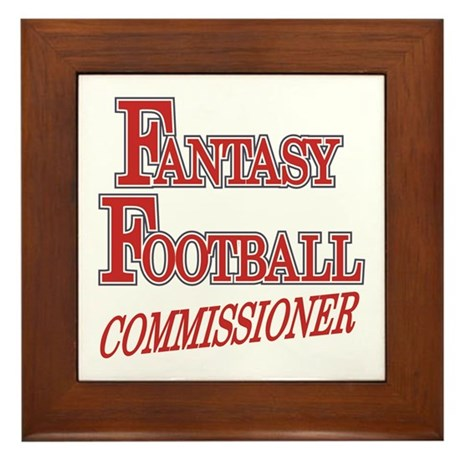 Fantasy Football Commissioner Framed Tile