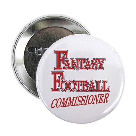 "Fantasy Football Commissioner 2.25"" Button (10 pac"