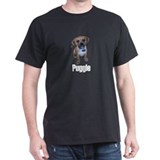 Puggle Black T-Shirt