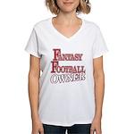 Fantasy Football Owner Women's V-Neck T-Shirt
