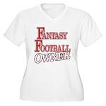 Fantasy Football Owner Women's Plus Size V-Neck T-
