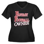 Fantasy Football Owner Women's Plus Size V-Neck Da