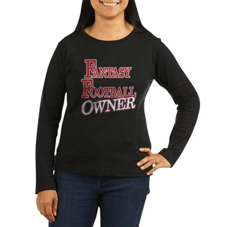 Fantasy Football Owner Women's Long Sleeve Dark T-