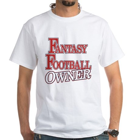 Fantasy Football Owner White T-Shirt