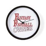 Fantasy Football Owner Wall Clock