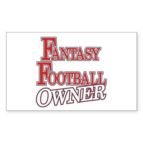 Fantasy Football Owner Rectangle Sticker