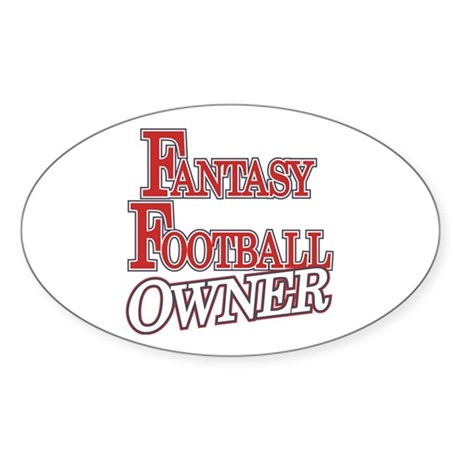 Fantasy Football Owner Oval Sticker