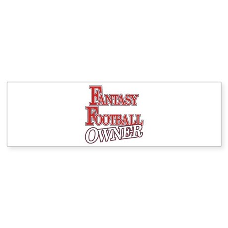 Fantasy Football Owner Bumper Sticker