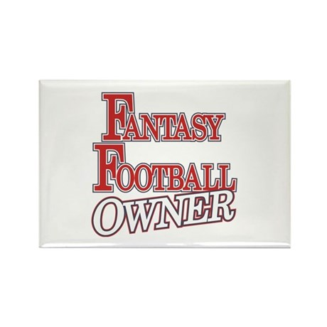 Fantasy Football Owner Rectangle Magnet (100 pack)