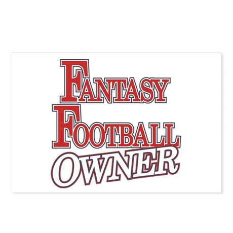 Fantasy Football Owner Postcards (Package of 8)