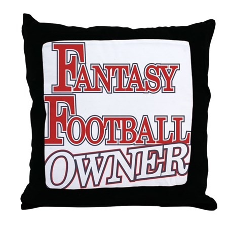 Fantasy Football Owner Throw Pillow