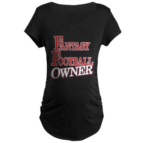 Fantasy Football Owner Maternity Dark T-Shirt