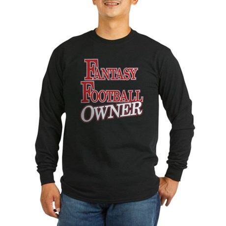 Fantasy Football Owner Long Sleeve Dark T-Shirt