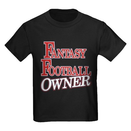 Fantasy Football Owner Kids Dark T-Shirt