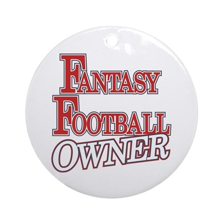 Fantasy Football Owner Ornament (Round)