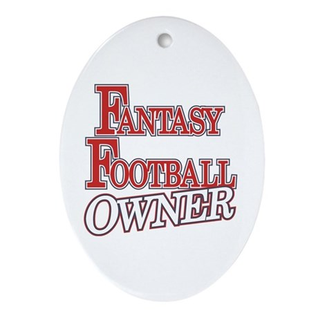Fantasy Football Owner Oval Ornament