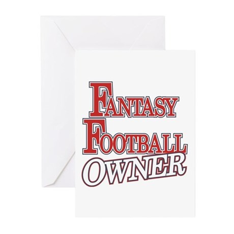 Fantasy Football Owner Greeting Cards (Pk of 10)