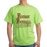 Fantasy Football Owner Green T-Shirt