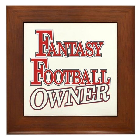 Fantasy Football Owner Framed Tile