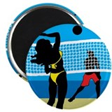 "Beach Volley 2.25"" Magnet (10 pack)"