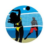 Beach Volley Ornament (Round)
