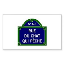 Rue du Chat qui Pêche, Paris - France Decal