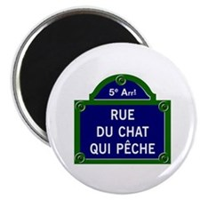 Rue du Chat qui Pêche, Paris - France Magnet