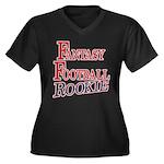 Fantasy Football Rookie Women's Plus Size V-Neck D