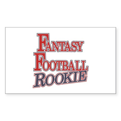 Fantasy Football Rookie Rectangle Sticker