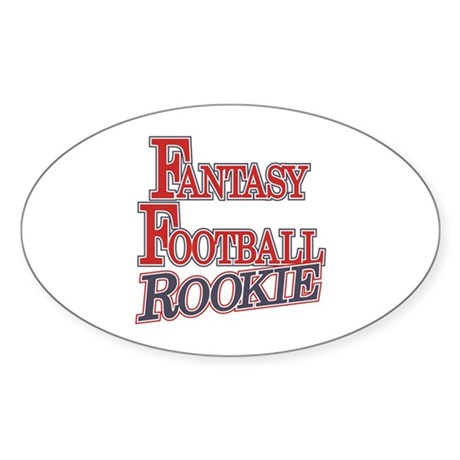 Fantasy Football Rookie Oval Sticker