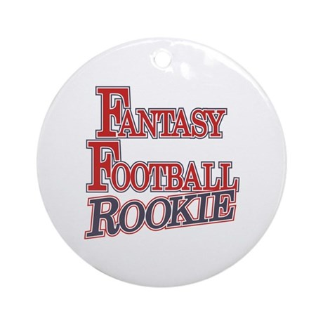 Fantasy Football Rookie Ornament (Round)