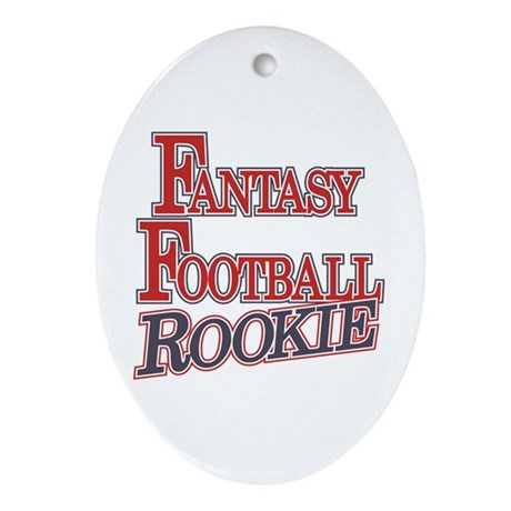 Fantasy Football Rookie Oval Ornament