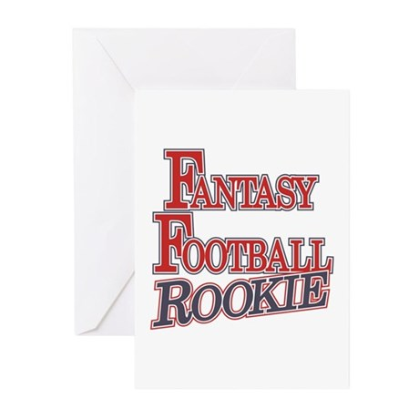 Fantasy Football Rookie Greeting Cards (Pk of 10)