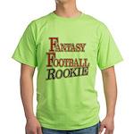 Fantasy Football Rookie Green T-Shirt