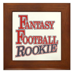 Fantasy Football Rookie Framed Tile